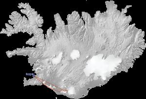 Eyjafjallajokull Tour Map
