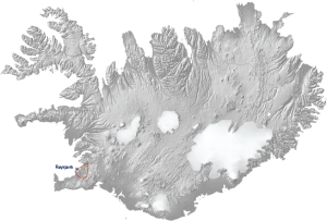 Hop on Top of mountain Esja Tour Map